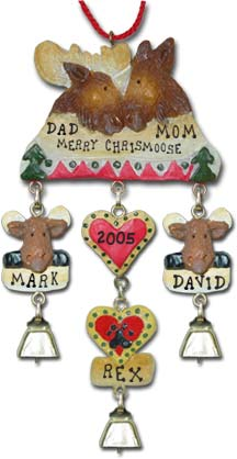 Personalized Moose Christmas Ornament
