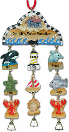 Personalized Ocean Christmas Ornament