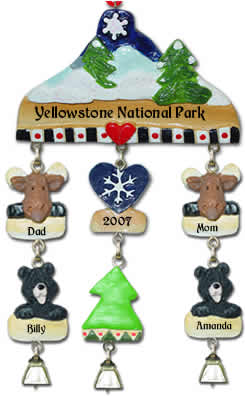 Personalized Winter Christmas Ornament