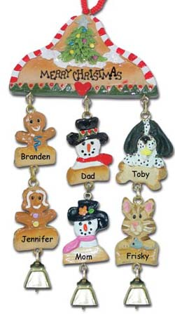 Black Spaniel Personalized Christmas Ornament