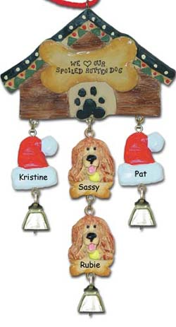 Cocker Spaniel Personalized Dog Christmas Ornament
