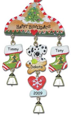 Dalmatian Dog Personalized Christmas Ornament