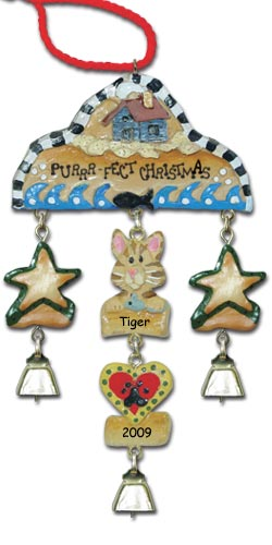 Orange Tabby Cat Personalized Ornament