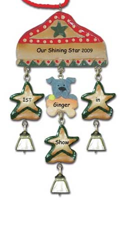 Schnauzer Personalized dog Christmas Ornament