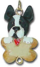 Boston Terrier personalized dog Christmas ornament