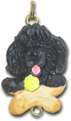 Black Poodle Dog Christmas Ornament Charm