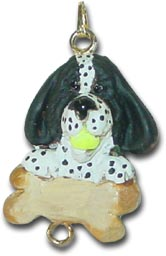 Black Spaniel Personalized Dog Christmas Ornament Charm