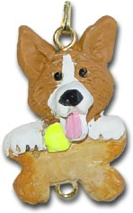 Corgi Dog Christmas Ornament Charm