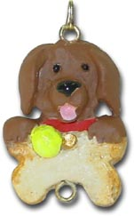 Chocolate Lab Dog Christmas Ornament Charm