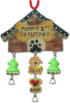 Dogs First Christmas Ornament.Dog Christmas Ornaments