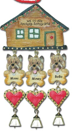 Cairn Terrier Personalized Dog Christmas Ornament