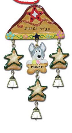 Husky Dog Personalized Christmas Ornament
