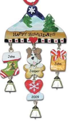 Terrier Dog Personalized Christmas Ornament