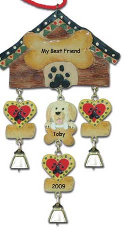 Yellow Labrador Personalized Christmas Ornaments