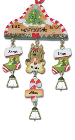 Yorkshire Terrier Personalized Dog Christmas Ornament