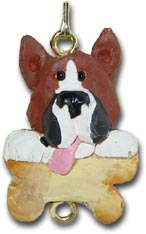 Boxer Dog Christmas Ornament Charm