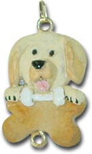 Yellow Labrador Christmas Charm