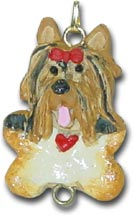 Yorkshire Terrier Dog Christmas Ornament Charm